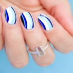 Tutorial: 6 Shades of Blue Nail Art