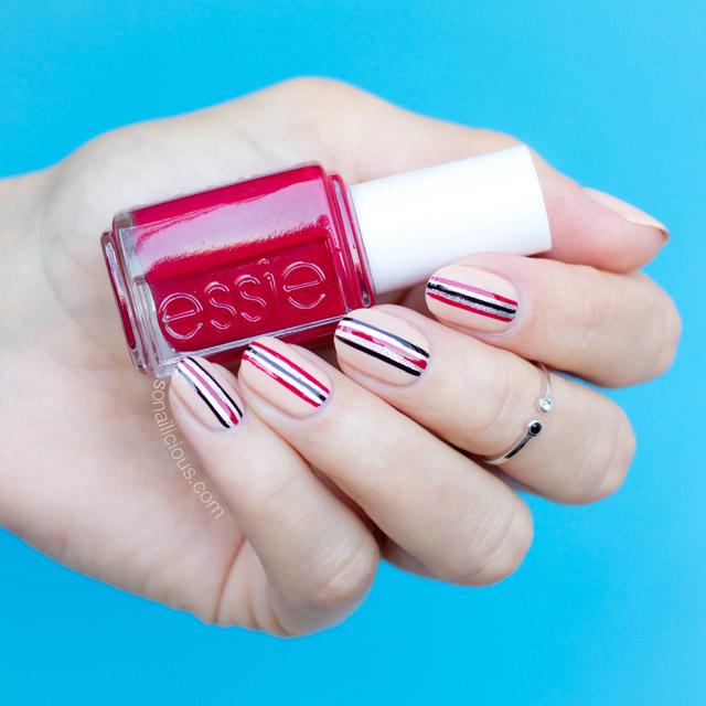 minimalist nail art, Essie Jump In My Jumpsuit