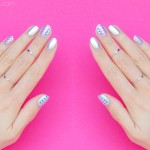 Simple Silver Nail Art For Short Nails – Day 1