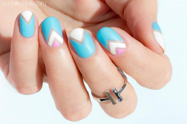 pastel negative space nail art tutorial