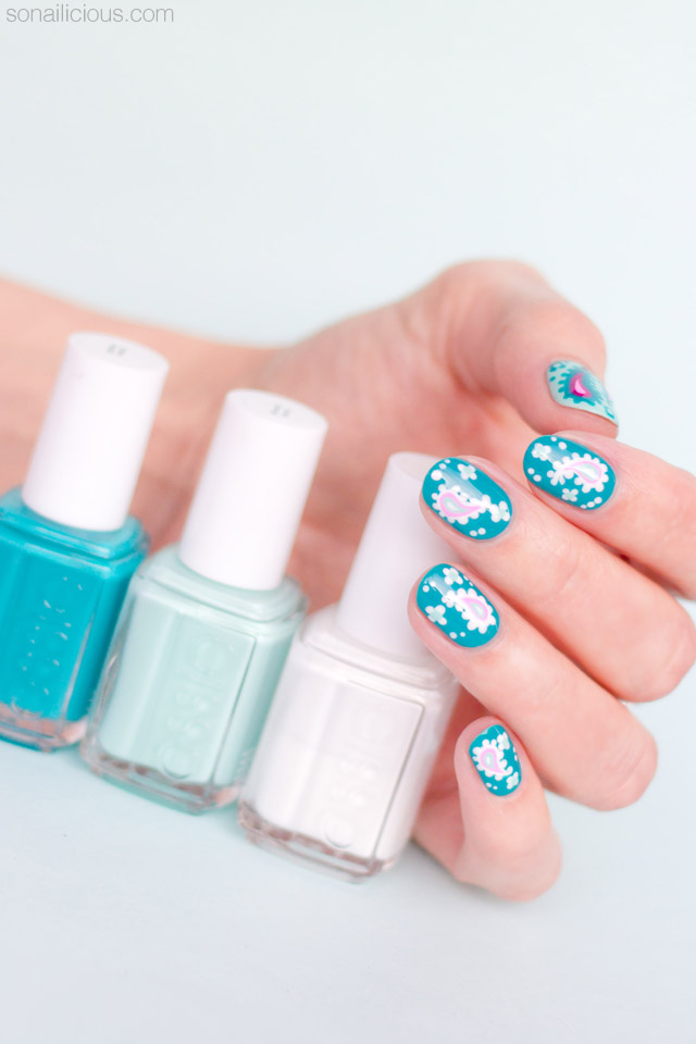 Paisley Nail Art For Short Nails. Plus, 4 Tips For Nailing It