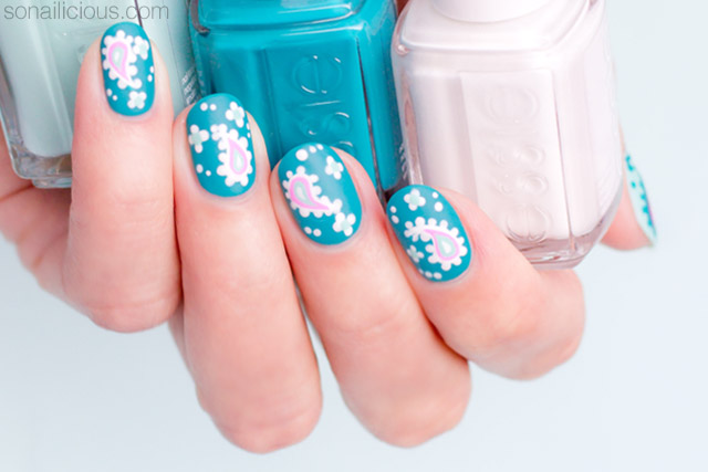 Paisley Nail Art For Short Nails. Plus, 4 Tips For Nailing It - Day 2