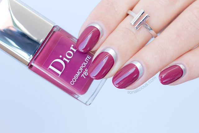 ruffian manicure, nail art ideas with dior cosmopolite polishes