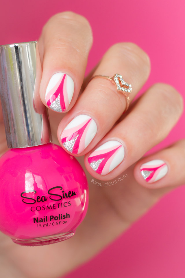 breast cancer nail art, sea siren sailaway heather