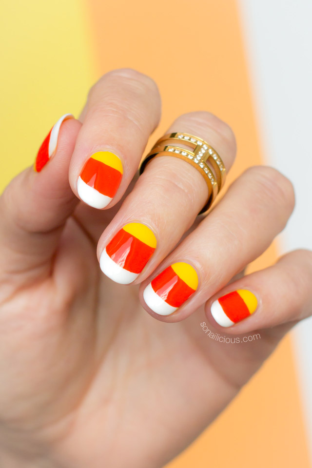 candy corn nails