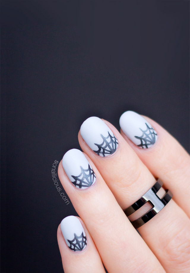 spider web nails - matte