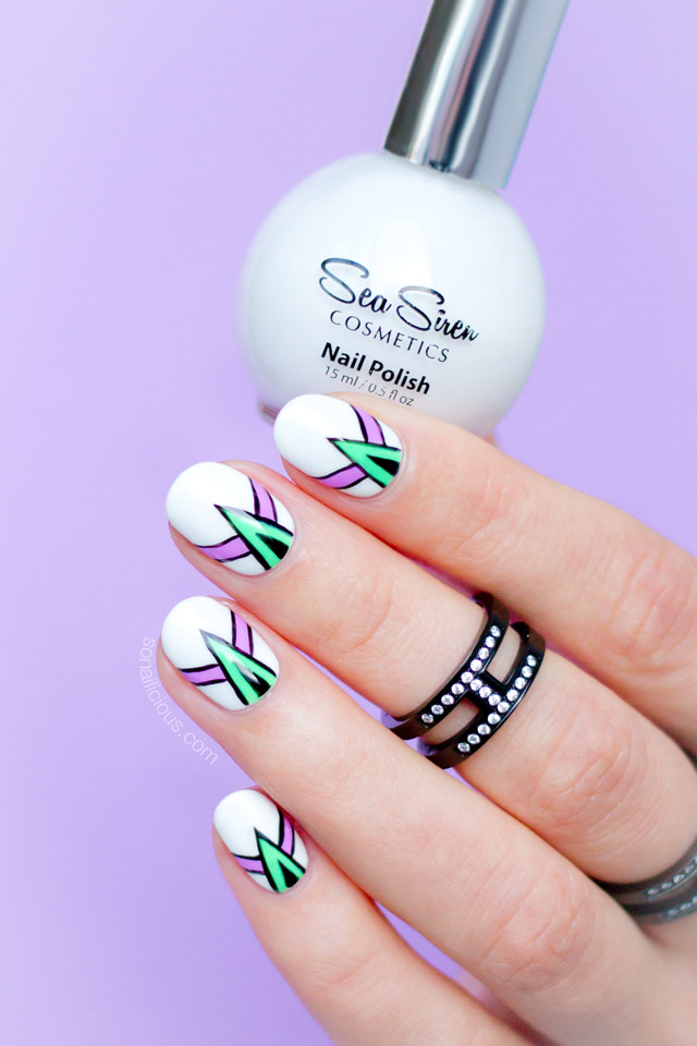 abstract nail art, sea siren leucosia