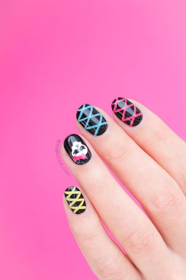 cute skull nails
