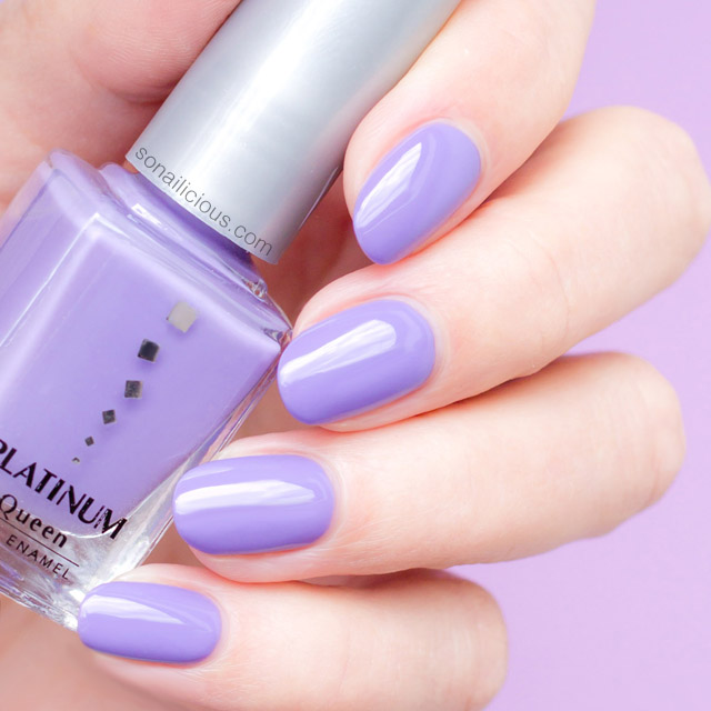 platinum polish lilac swatch