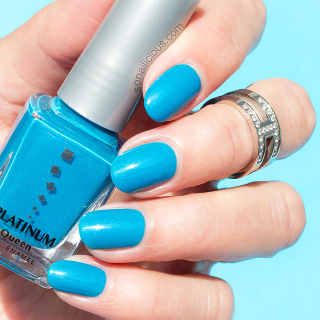 platinum polish ocean blue swatch