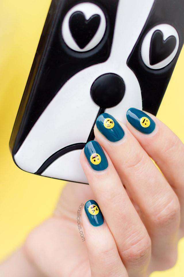 Marc jacobs iphone case, cute emoji nails ... - Emoji Nails - Tutorial