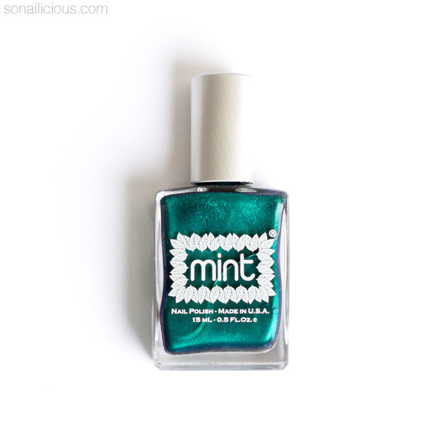 bright emerlad green nail polish - mint polish czarina