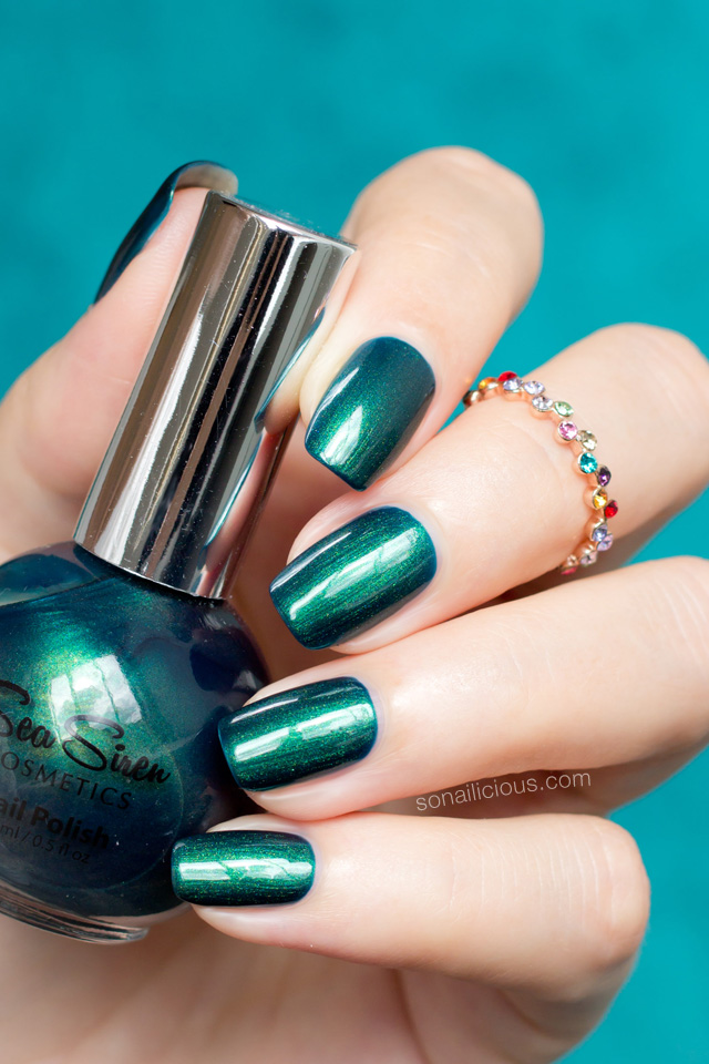 emerald green nail polish sea siren mystical atlantis