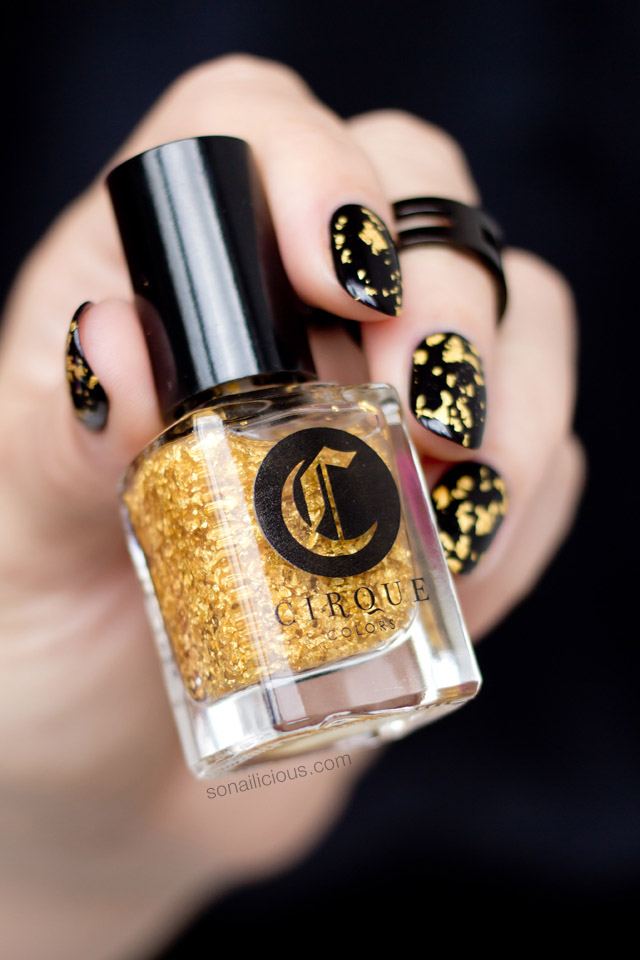 the best gold leaf top coat CIRQUE COLORS AU