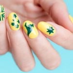 Mani Monday: Green and Yellow Australia Day Nail Art