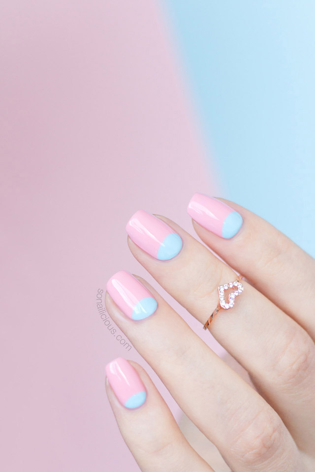 rose quartz nails, serenity nails