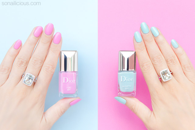 dior spring 2016 nail polish swatches review