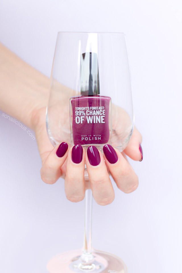 dark red nail polish SIWP Wine and Shine
