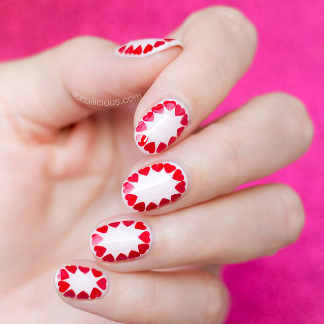 Nail Art Valentines: Easy Valentine's Day Nail Art [Tutorial]