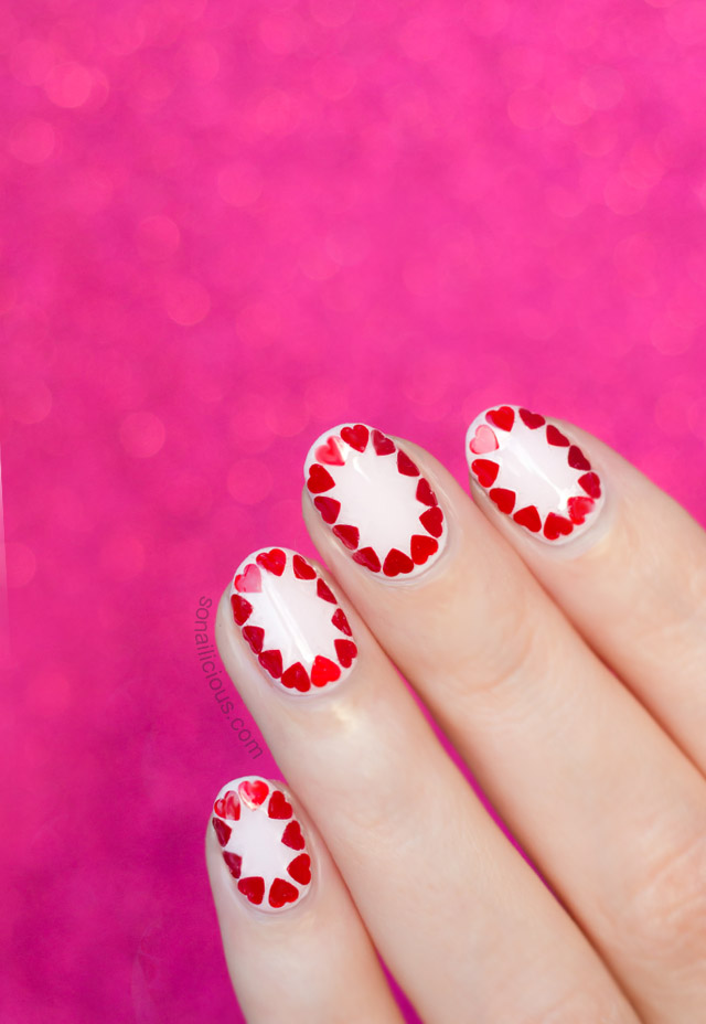 easy valentine's day nail art tutorial