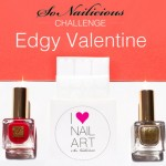 Nail Art Challenge 2: Edgy Valentine