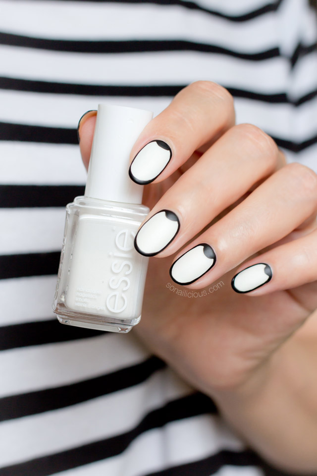Graphic Black And White Nail Design Tutorial