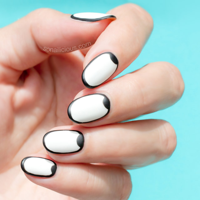 Graphic black and white nail design tutorial black and white nail art prinsesfo Choice Image