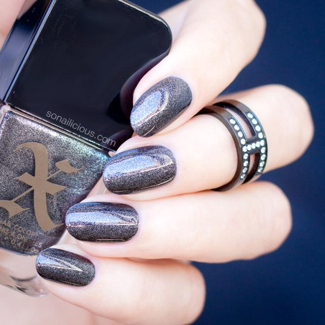gunmetal nail polish, sephora x nails