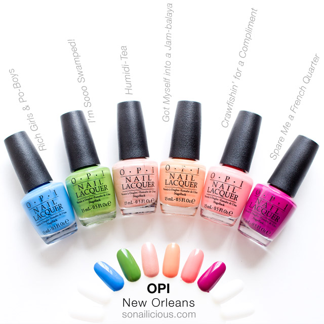 opi new orleans, warm shades