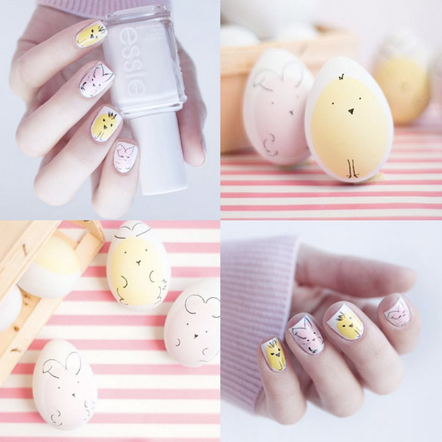 Abstract Easter Egg nails by @natashkinskas