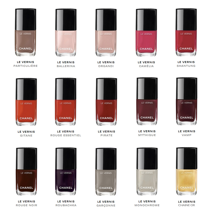 Chanel Long Wear Gel polish all colours, Chanel spring 2016