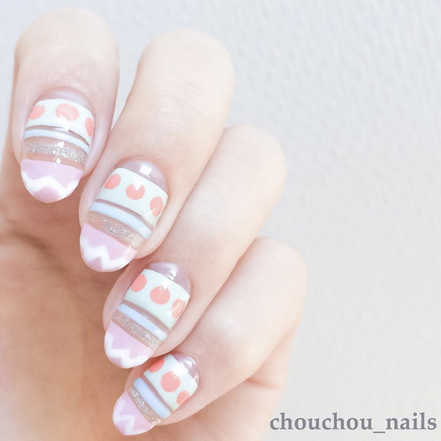 Easter Egg nails by @chouchou_nails