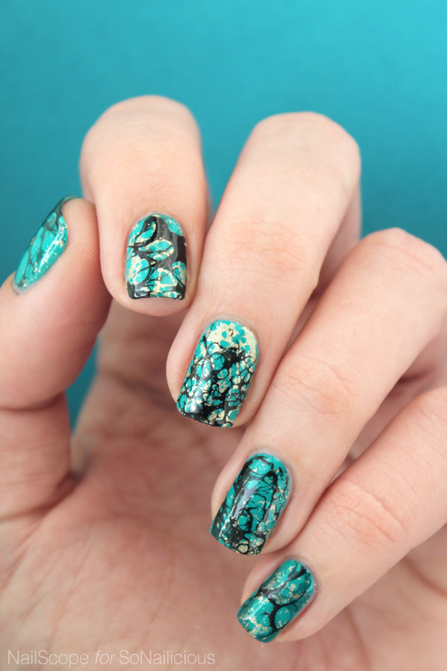 Turquoise Nails [TUTORIAL]