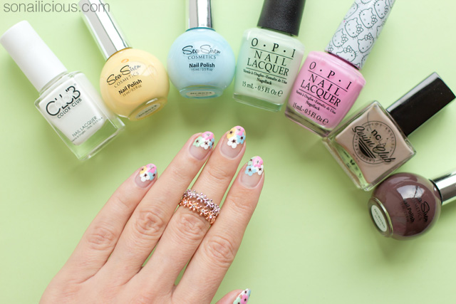 floral nails, floral nail art how to