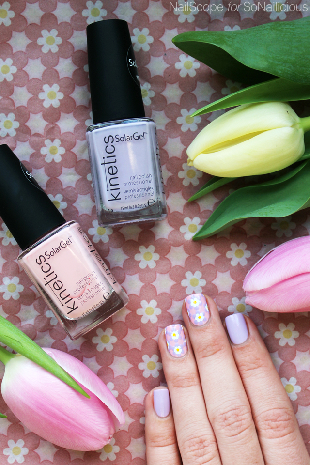 floral spring nails, easter nails