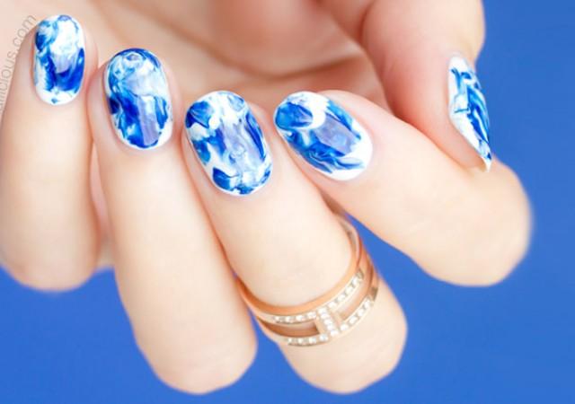 How To Do Marble Nails Marble Nail Art Sonailicious