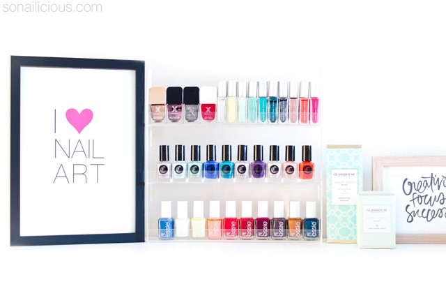 how to store nail polish, nail polish racks