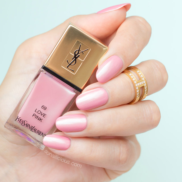 ysl love pink swatches, ysl love pink nail polish