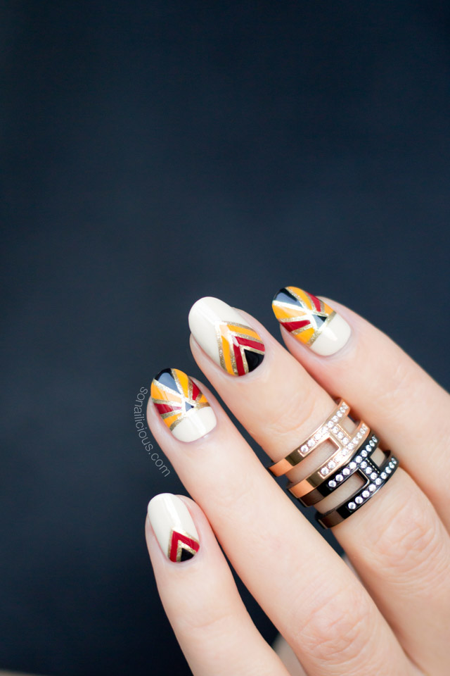 Givenchy Nails, art deco nails, NAFW 2016