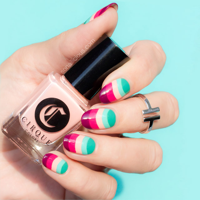 Gucci Nails, Cirque colors lox and sable, NAFW 2016