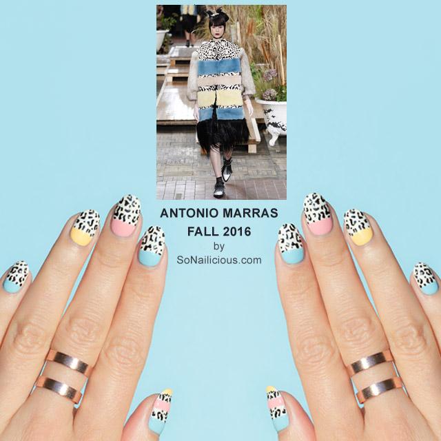 Leopard print nails, Antonio Marras Fall 2016