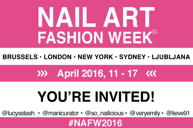 Nail Art Fashion Week 2016 invite