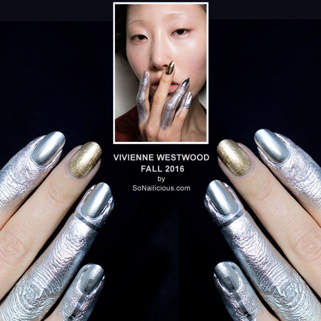 Vivienne Westwood fall 2016 nail art, Marian Newman