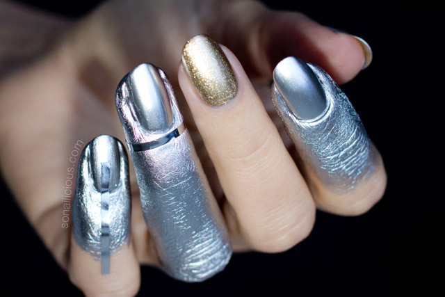 ... 3 Vivienne Westwood Nail Art Silver Nails