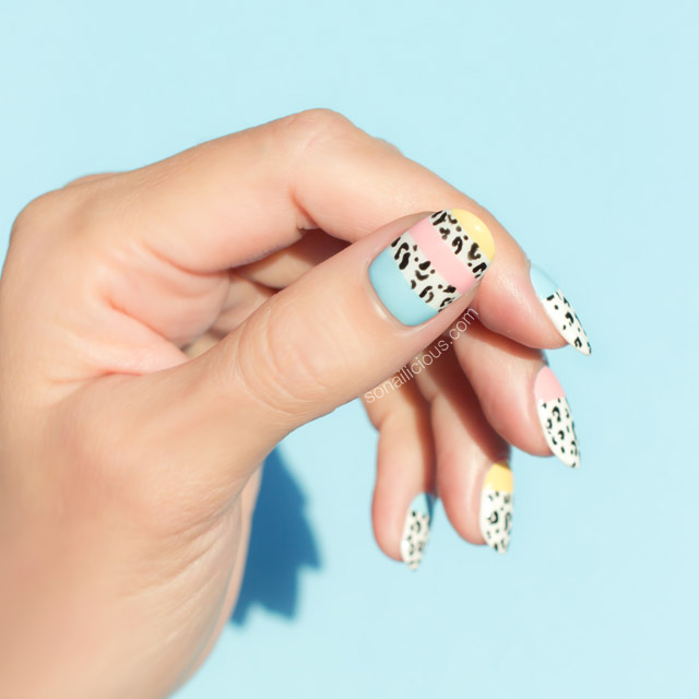 cool leopard print nails, spring nails