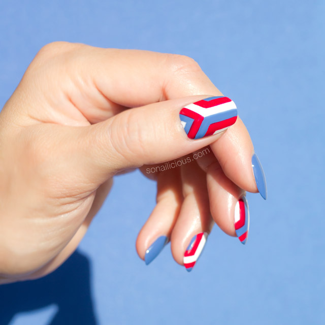geometric nails, anya hindmarch nails