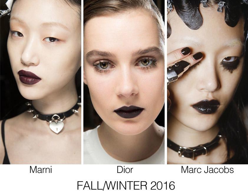 black lips trend, dior black lipstick