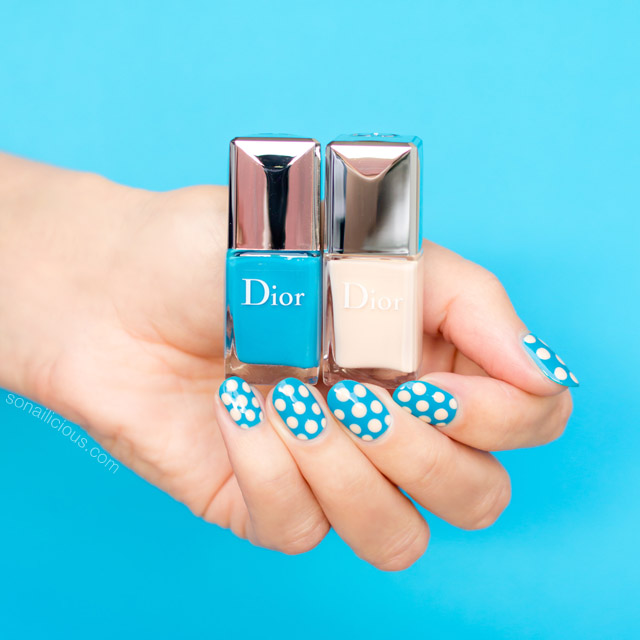 dior poka dots, polka dot nails