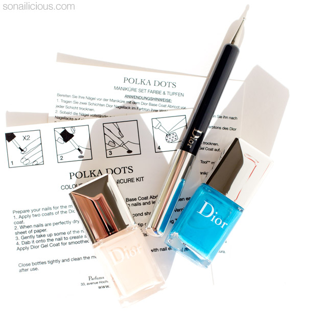 dior polka dots manicure kit review