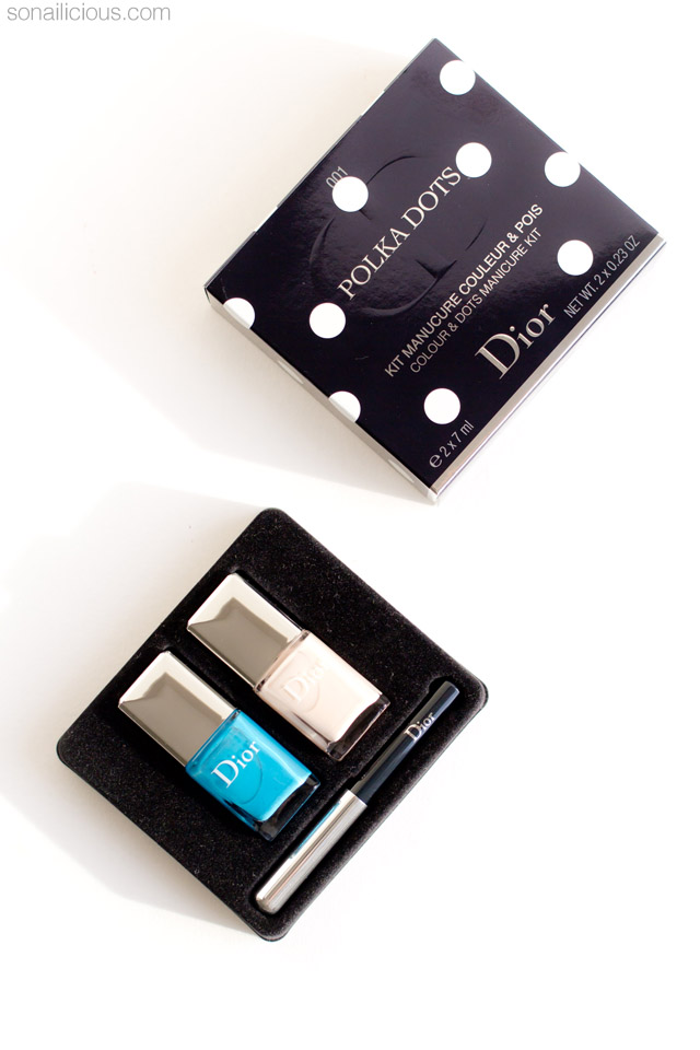 dior polka dots pastilles manicure kit review